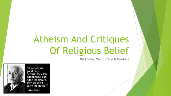 Preview of Atheism And Critiques Of Religious Belief