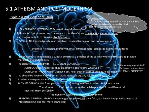 Preview of Atheism and Postmodernism, Philosophy of Religion, Religious Studies, AQA