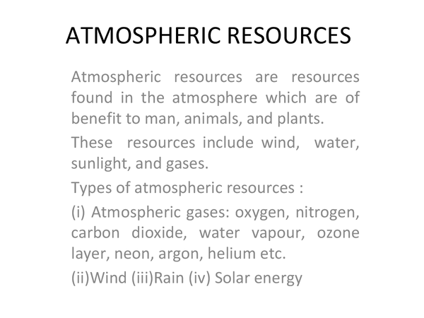 Preview of Atmospheric Resources