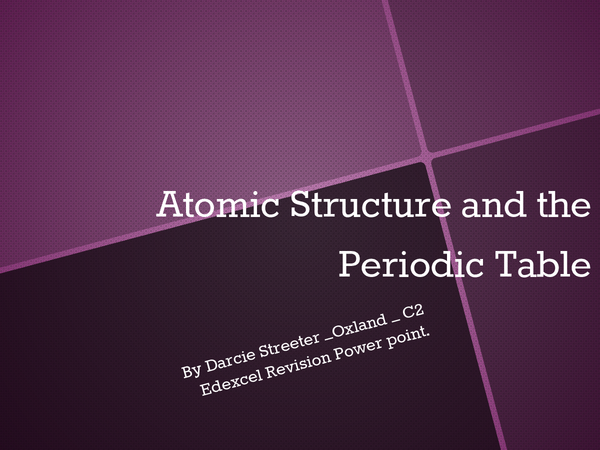 Preview of Atomic Structure and the periodic table