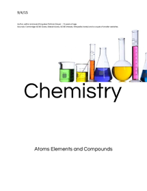 Preview of Atoms. Elements and Compounds, basics school notes