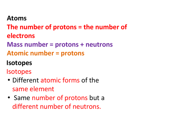 Preview of Atoms , Isotopes , Ionic compounds and Alkali Metals