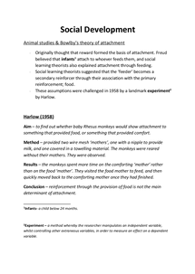 Preview of Attachment (Social Development)