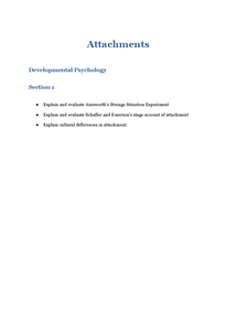 Preview of Attachments AS Psychology