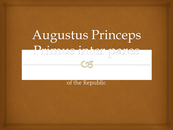 Preview of Augustus Princeps