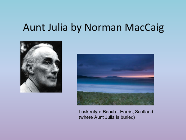 Preview of Aunt Julia by Norman MacCaig