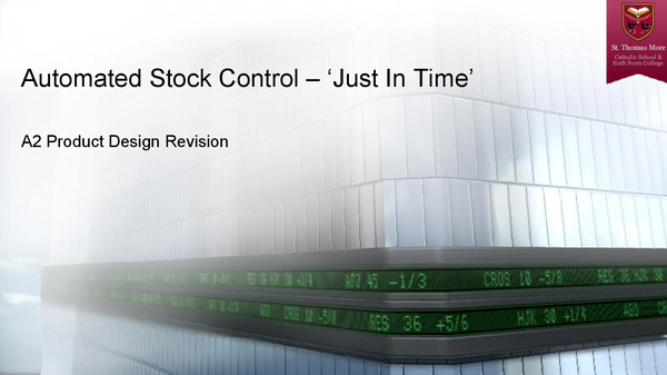 Preview of Automated Stock Control - JIT