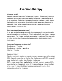 Preview of Aversion Therapy