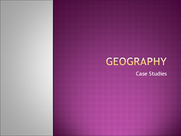 Preview of Avery Hill Geography Case Studies
