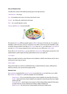 Preview of B1 Diet and Metabolic Rate