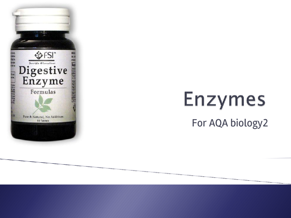 Preview of B2- Enzymes    for AQA Science