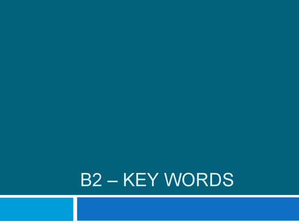 Preview of B2 - Key Words