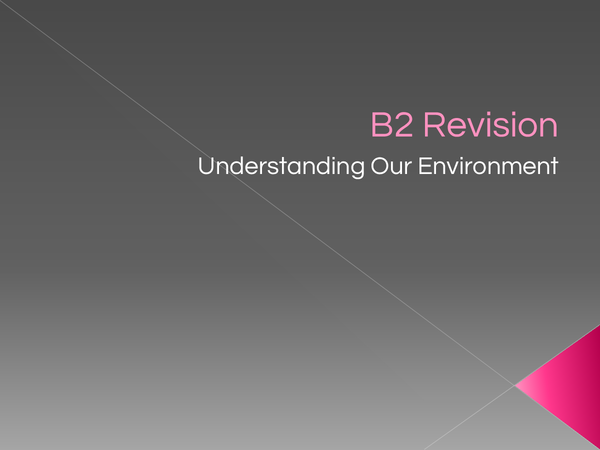 Preview of B2 Revision