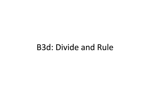 Preview of B3d Divide & Rule