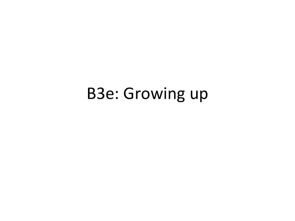 Preview of B3e Growing Up