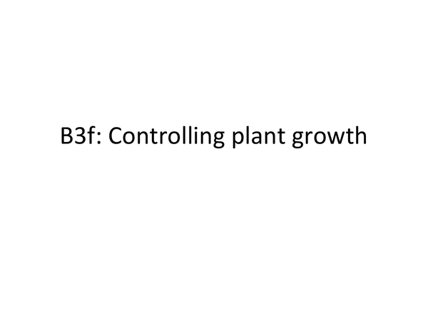 Preview of B3f Controlling Plant Growth