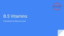 Preview of B.5 Vitamins