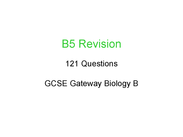 Preview of B5 Revision