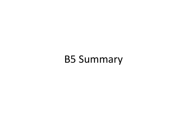 Preview of OCR Gateway Biology: B5 full summary