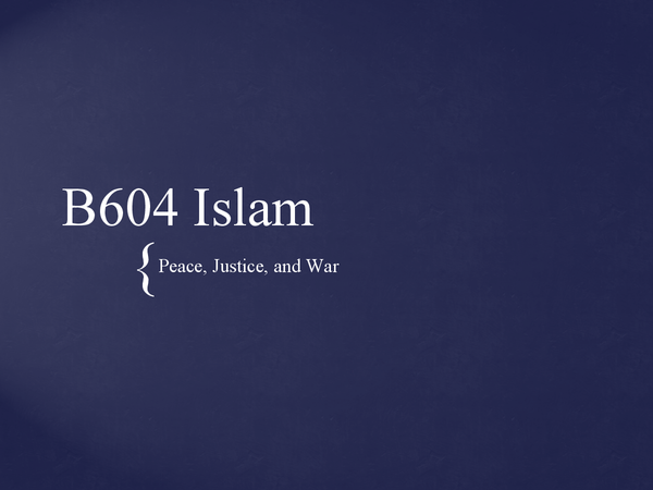 Preview of B604 Islam