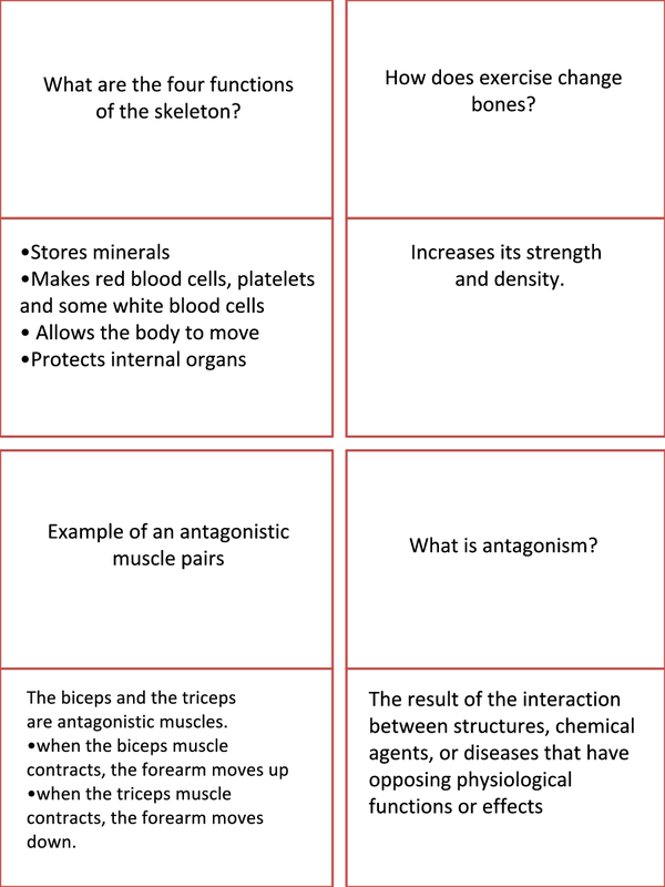 Preview of B7 OCR 21st Century Science Printable Revision cards