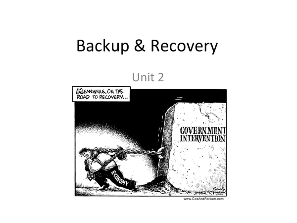 Preview of Backup and Recovery