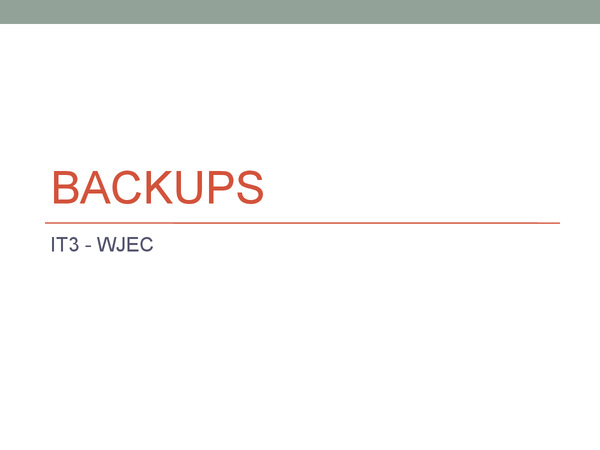 Preview of Backups