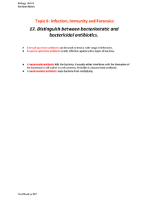 Preview of Bacteriostatic and Bactericidal