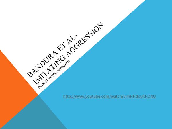 Preview of Bandura Et Al- Imitating Aggression
