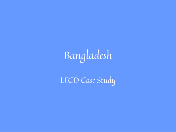 Preview of Bangladesh Case Study
