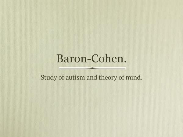 Preview of Baron-Cohen