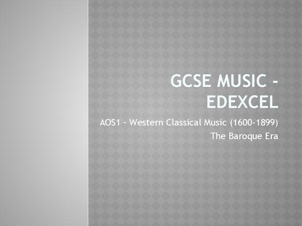 Preview of Baroque music - edexcel