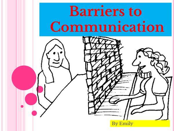 Preview of Barriers to Communication