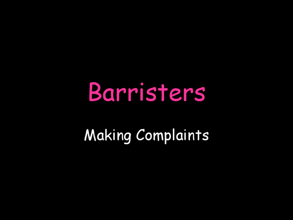 Preview of Barristers