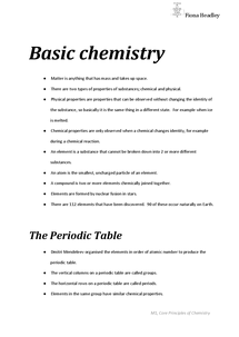 Preview of Basic Chemistry