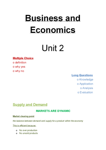 Preview of Basic Edexcel Business and Economics for AS Unit 2b
