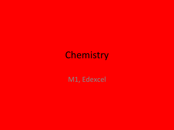 Preview of Basics of Chemistry when starting AS
