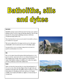 Preview of batholiths sills and dykes