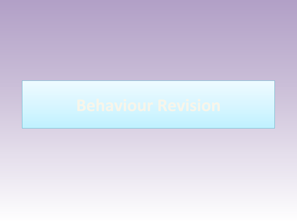 Preview of Behaviour and Fight or Flight revision