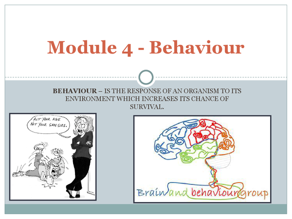 Preview of Behaviour Biology A2 - Module 4