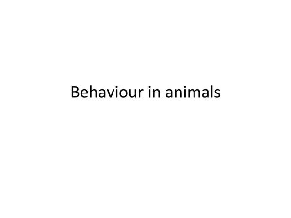 Preview of Behaviour in animals, B3 extension unit edexcel