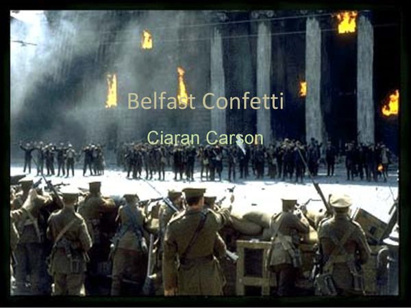 Preview of Belfast Confetti research