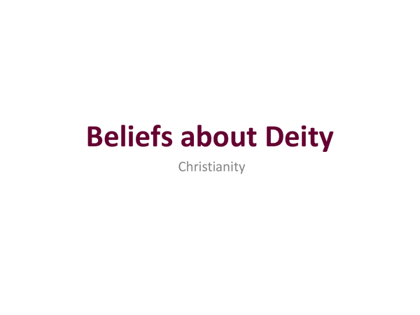 Preview of Belief about Deity
