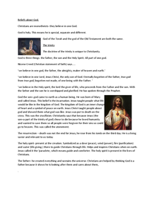 Preview of Beliefs about God- the trinity