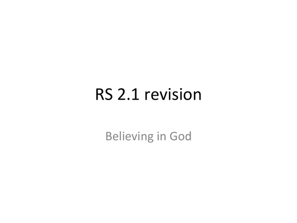 Preview of Believing in God 2.1 Edexcel revision notes