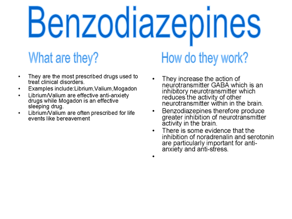 Preview of Benzodiazepines-treatment for abnormality
