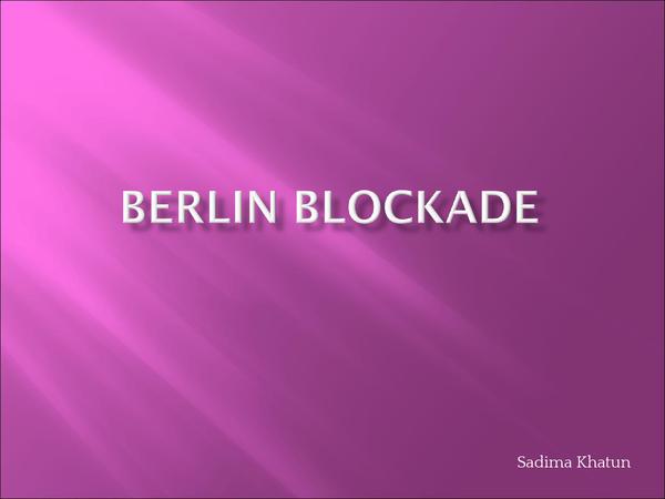 Preview of Berlin Blockade