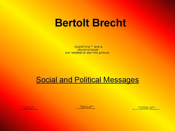 Preview of Bertolt Brecht [DRAMA]