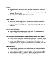 Preview of Big Bang Revision notes