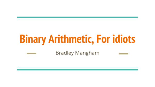 Preview of Binary Arithmetic